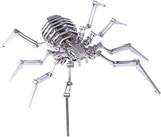 FANPING Metal Model Puzzle, 3D Metal Mantis Build Model Kits DIY Laser Cut Jigsaw Model (Color : Spider King)