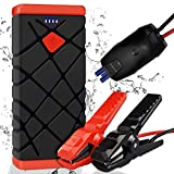 FENNYCARE Arrancador de Coches,1500A Arrancador Batería Coche(for 8.0L Gasoline or 6.5L Diesel Vehicles) Jump Starter Battery, QC3.0 Quick Charging, LED Flashlight and USB Port