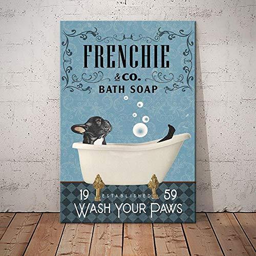 BabyElephant French Bulldog Company Poster Wall Art Print Bathroom Restroom Home Living Decor Poster
