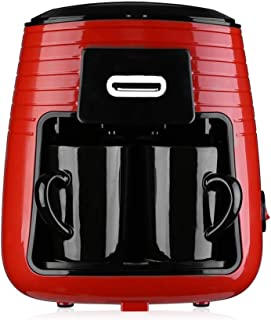 Coffee Machine 0.25L Coffee Machine for Home Office Electric Coffee Maker with Water Level Mark Ceramic Cups Removable Fil...