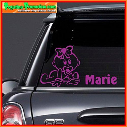 """Hochwertiger Namens Aufkleber \"""" Marie \"""" Autoaufkleber Name Aufkleber Wandtattoo Aufkleber für Glas,Lack,Tür und alle glatten Flächen, viele Farben zur Auswahl,Auto Sticker Baby an Bord, Kindername,Namensaufkleber"""