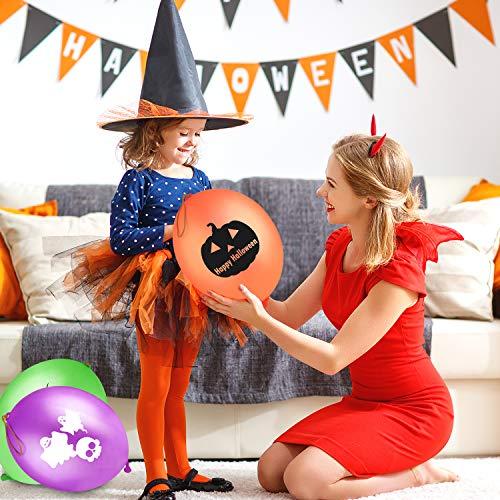 FEPITO 30 PCS Halloween Punch Palloncini per Il Partito di Halloween, Dolcetto o Scherzetto Giocattoli, Accessori per Halloween Party Bag Fillers Decorazioni