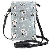 Lawenp Art Tiger - Bolso bandolera pequeño de cuero con bloqueo RFID, monedero, bolsos para teléfono, para viajes, niñas, mujeres