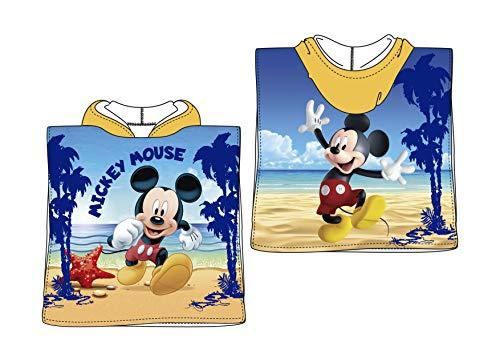 TEXTIL TARRAGO capuchon handdoek Disney Mickey Mouse Poncho 50 x 100 cm 100% polyester ET1801-1