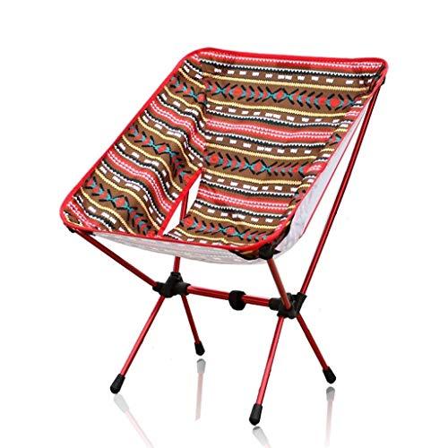 AOIWE Silla Que acampa Plegable portátil Plegable de Camping al Aire Libre Sillas de Respaldo Alto con la Bolsa de Picnic en la Playa Asiento Senderismo