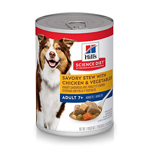 Hill's Science Diet Senior Wet Dog Food, Adult 7+ Savory Stew Canned Dog Food, 12.8 oz, 12 Pack
