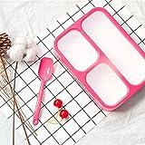 Heigmz Fh Bento Box - Fiambrera de alta capacidad para entramado a prueba de fugas, portátil, para viajes, camping, oficina, escuela, material saludable, 1000 ml (color rojo)