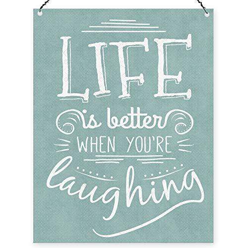 "Dorothy Spring Cartel de Chapa con Texto en inglés ""Life Is Better When You'Re Laughing Letrero De Metal de 15X20 cm"