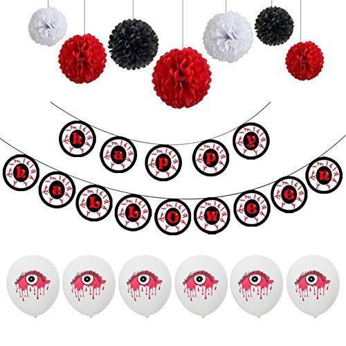 Großhandel Luftballons Kreative Designs Bühnen-Anhänger und Requisiten für verschiedene Anlässe Halloween Eye Ballon Spirale Charm