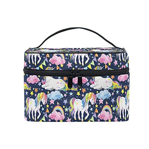 Make-up Tasche mit Panda-Muster in Schwarz und weiß, Kulturbeutel mit Griff und Fächern für die Aufbewahrung Kosmetik, für Reisen geeignet, ideal für Teenager, Mädchen,...