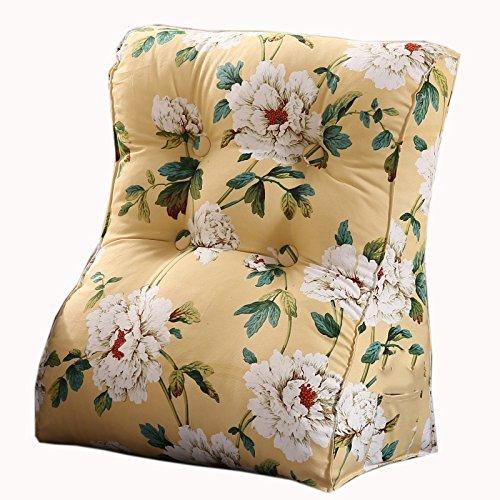 uus Triangle moderne Canapé Coussin Siège de siège Coussin utile Populaire ralentissement Rebond Design ergonomique motif de fleurs Confortable dossier 45 * 55cm / 55 * 60cm ( taille : 55*60cm )
