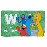 Sesame Street Alphabet Personalized Fuzzy Blanket with Custom Initial and Name Printed for Bedroom or Play Area, 33.5' x 55.5'