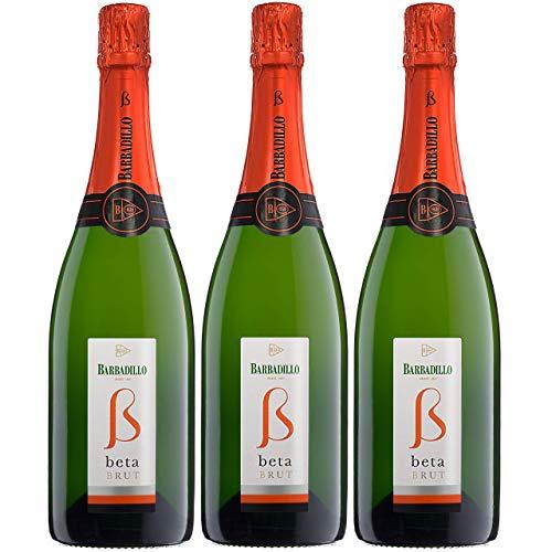 Barbadillo Beta Brut | Vino Blanco Espumoso Chardonnay y Palomino Fina - Estuche 3 x 75 cl