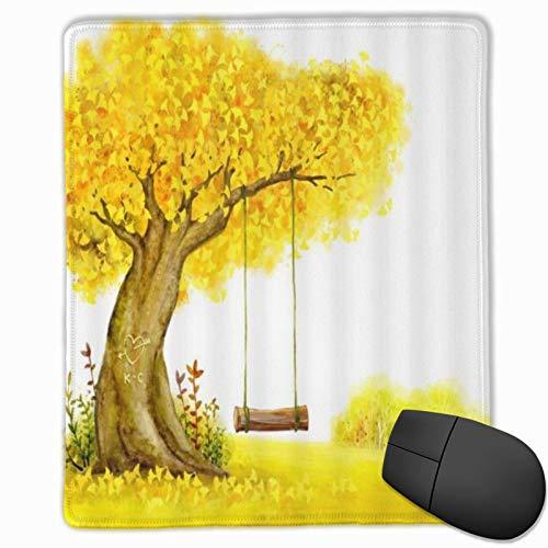 MUYIXUAN Alfombrilla Raton Ginkgo Deja Columpio otoño Amor árbol Prado Alfombrilla Gaming Alfombrilla para computadora con Base de Goma Antideslizante,250×300×3mm