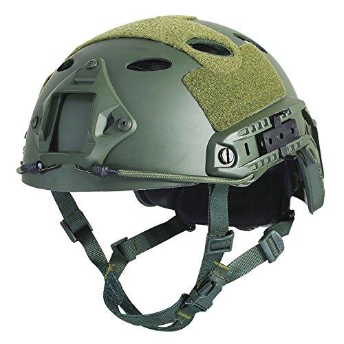 Airsoft Helm Oliv Grün Taktisch FAST/Schnelle PJ Base Jump Us-Militär Helm für Paintball CS Spiel CQB Schießen
