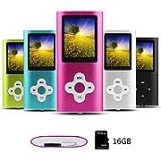 Btopllc MP3-Player,16G tragbare,verlustfreie Sound-Musik-Player,MP4-Player, tragbare und kompakte Medien-und Videoplayer,Unterstützung für Musik,Video, Ebook,Kopfhörer und Ladekabel inklusive-Rosa