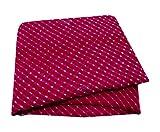 PEEGLI Indian Frauen Vintage Sari Magenta Ethnisch Kleid