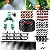 Sistema de Riego por Goteo, 40m Sistema de riego Jardín Juego de Riego por Goteo de boquillas atomizadoras, Kit de Riego automático Riego por Goteo Micro para Jardín/Plantas/Invernadero/Patio(139pcs)