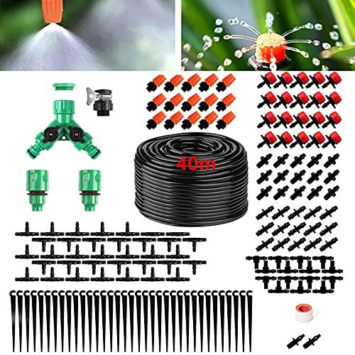 XINGGANG Bewässerungssystem Garten, Micro Drip Bewässerung Kit, 40M Garten Automatische Bewässerung Tröpfchenbewässerung für Bewässerungssystem Topfpflanzen Balkon Flower Bed Terrasse Pflanzen (40M)