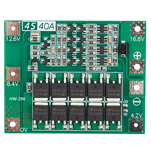 Pineapplen Scheda di Protezione Bms Pcb Caricabatterie 18650 Batteria Agli Ioni di Litio 4S 40A per Modulo Trapano 14.8 V 16.8 V Modulo Celle Lipo