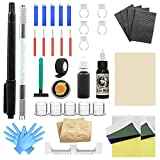 Wormhole Tattoo Stick and Poke Tattoo Kit Microblading Kit Hand Poke n Stick Pen Tattoo Kit DIY Tattoo Kit Home Tattoo Kit with Ink Microblading Pen for Tattoo Supplies and Eyebrow TK095