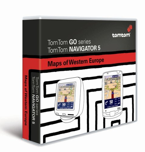 Tomtom Go Karte für Westeuropa auf CD (für Tomtom GO 300/500 / 700 und Tomtom Navigator 5)