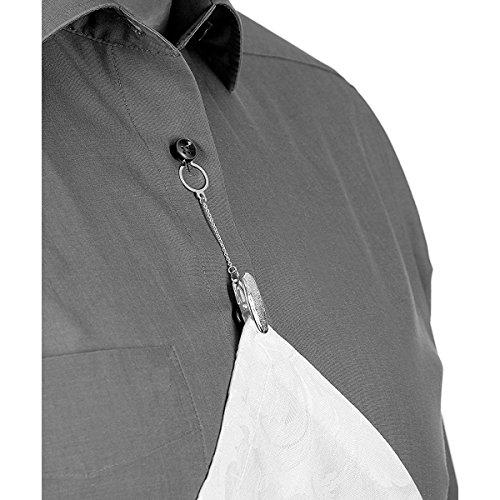 Serviettenhalter Serviettenclip für Knopfloch Silber Plated versilbert