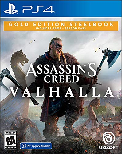 [PS5, PS4] Assassin's Creed Valhalla Gold Steelbook Edition - $84.99 at Amazon (Free PS5 Upgrade)