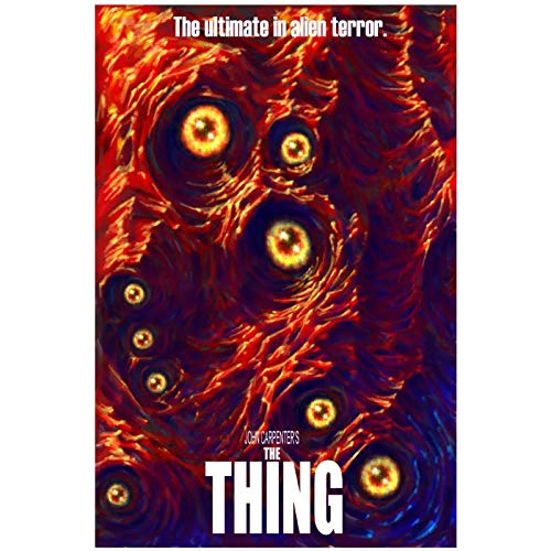 PDFKE The Thing 1982 Classic Horror Movie John Carpenter Posters e Impresiones Lienzo Arte de la Pared Pintura Imágenes para la Sala de Estar Decoración del hogar Regalo -50x70 cm Sin Marco
