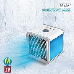 MediaShop Livington Arctic Air – Luftkühler mit Verdunstungskühlung – Mobiles Klimagerät mit 3 Stufen und 7 Stimmungslichtern – Mini Klimagerät mit Tankvolumen für 8h Kühlung