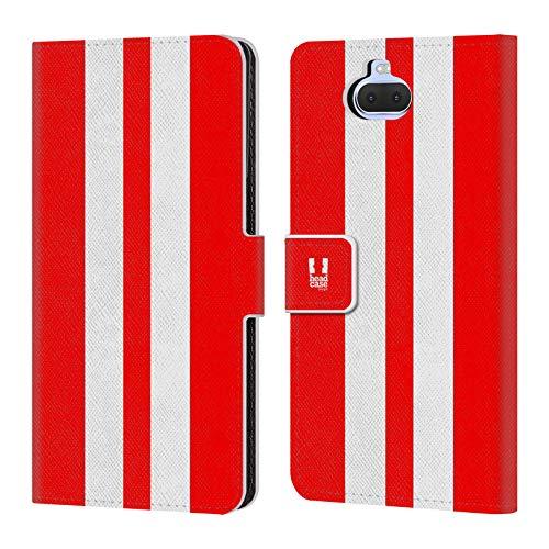 Head Case Designs Roter Rennenwagen Transportmittel Farbig Leder Brieftaschen Handyhülle Hülle Huelle kompatibel mit Sony Xperia XA3 / Xperia 10