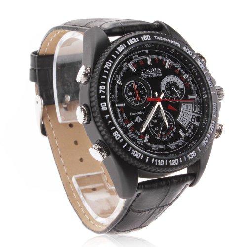Flylinktech® 189Bc 16GB 1080P 16 fps Full HD Nachtsicht Kamera Uhr, Armbanduhr mit integrierter Kamera