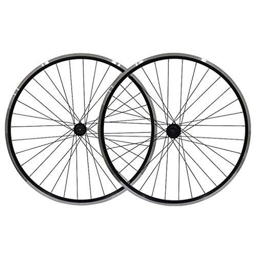 TYXTYX Juego de Ruedas para Bicicleta de 26 Pulgadas, Freno en V de Doble Pared, aleación de Aluminio, llanta MTB, Freno de Disco, liberación rápida, 32 Orificios, 7 8 9, Ruedas de Disco de 10 Velo