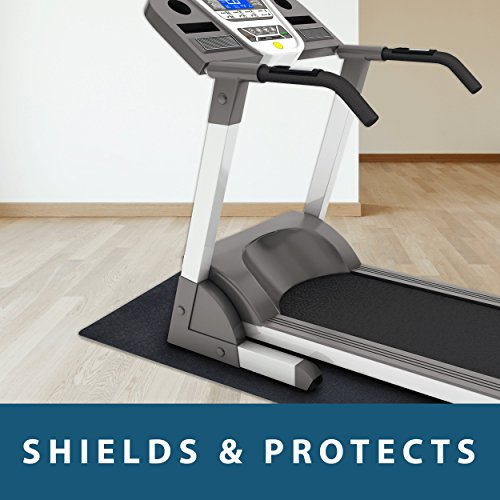 MotionTex Exercise Equipment Mat for Under Treadmill, Rowing Machine, Elliptical, Fitness Equipment, Home Gym Floor Protection, 36