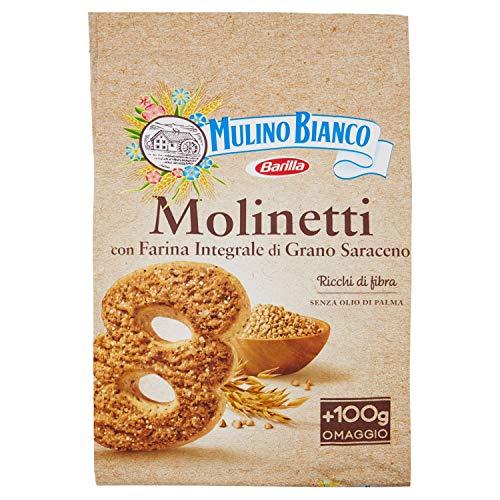 Mulino Bianco Biscotti Frollini Molinetti con Farina Integrale di Grano Saraceno, Colazione Ricca di Gusto, 800 gr
