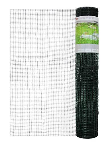 Arvotec Kleintierzaun/Kaninchenzaun, 19x19mm, 100x500cm,grün - flexibel und einfach zu verarbeiten - für Kleintiergehege, Volieren, Baum- & Pflanzenschutz, Gartenabgrenzungen oder als Rankhilfe