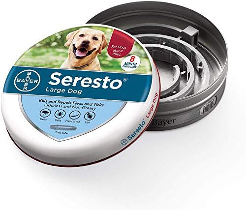 Collar de pulgas y garrapatas Soreste para Perros, Control de pulgas y garrapatas de 8 Meses para Perros de más de 18 LB