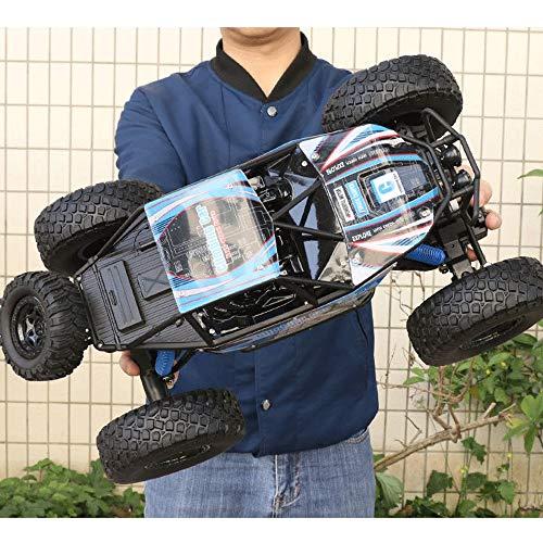 Lotees Camiones todoterreno RC RC coche teledirigido de 2,4 GHz Monster Truck 1/10 escala gigante de alta velocidad del coche de RC for los todo terreno Off-Road Gran Vehículo opción de regalo for y N