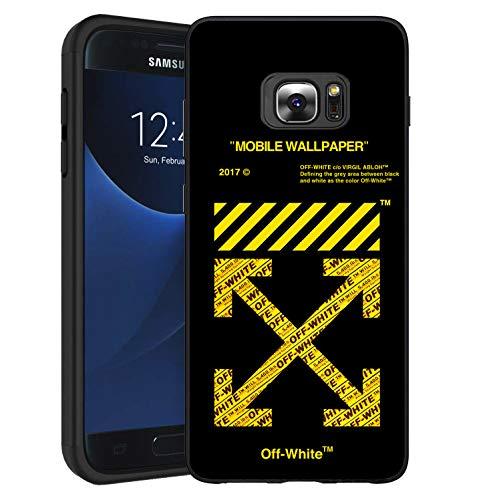 O-W Cover Samsung Galaxy S6 Edge Custodia, Custodia Cover in Morbida Silicone TPU per Samsung Galaxy S6 Edge (Mobile Wallpaper)