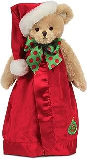 Bearington Baby's 1st Christmas Santa Teddy Snuggler, Security Blanket, Lovey 15 inches