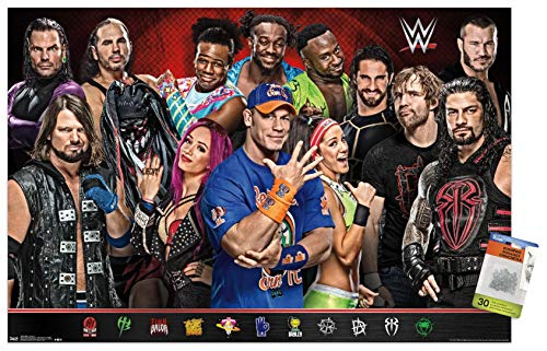 WWE - Group 17 Wall Poster with Push Pins