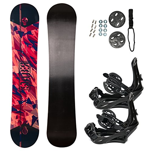 STAUBER 138cm Summit Snowboard & Binding Package Sizes 128, 133, 138, 143, 148,153,158, 161- Best All Terrain, Twin Directional, Hybrid Profile - Adjustable Bindings - Designed for All Levels