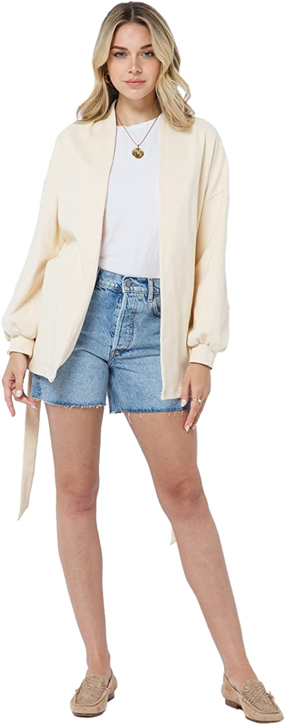 daani. Women's Relaxed Fit Lightweight Lounge Open-Front Belted Cardigan