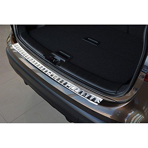 Avisa Protection de seuil arrière inox compatible avec Nissan Qashqai II 2014-2017 'Ribs'
