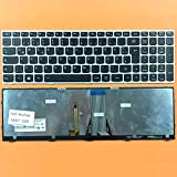 DE Tastatur Keyboard mit Beleuchtung Silber Rahmen Lenovo IdeaPad G70, G70-35