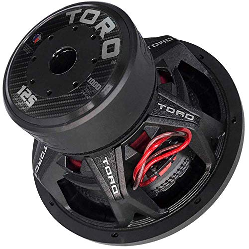 """TORO TECH – FIERCE 12S, 12 Inch 1000 Watts RMS – 2000 Watts MAX – Dual 4 Ohm 2.5 Inch Voice Coil, 12"""" Car Audio Subwoofer for Cars, Trucks, Jeeps, Boats, Off Road with Hard Hitting Bass (Sold As Each)"""