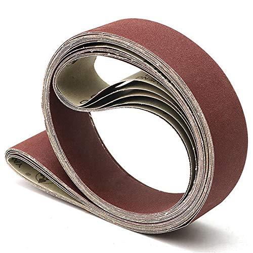 Schleifpapier bandschleifer 6 stücke 5x182cm Schleifbänder 180-800 GRIT Harte Schleifbänder für Sander Mahlzeit schleifband