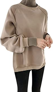 TITAP M-4XL Women's Plus Velvet Long Sleeve Casual Sweatshirt High Collar Sweatshirt Clothing