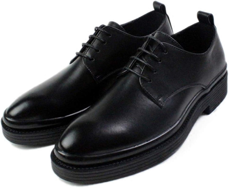 Men's Lace Up Derby shoes Dress Business Casual shoes Classic Black