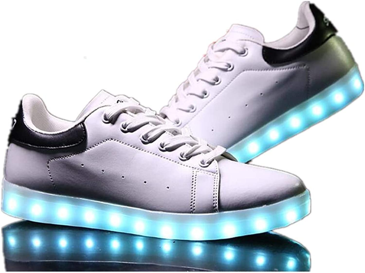 LUOBM LED Luminous shoes Low Help USB Charging Student Style Flash shoes Couple shoes